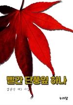 빨간 단풍잎 하나